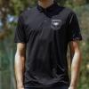 IMAGE | Rising Sun Logo Golf Polo Shirt (Black) - detail 2