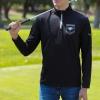 IMAGE   Rising Sun Logo Quarter Zip Golf Pullover (Black) - detail 3