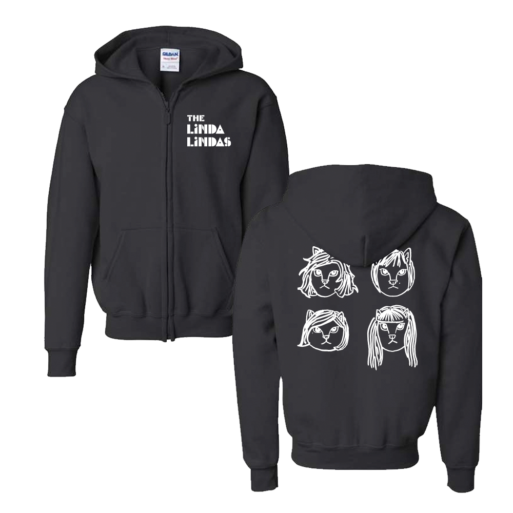 IMAGE | Cats! Youth Zip Up Hoodie (Black)