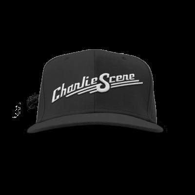 IMAGE | Embroidered Logo Snapback Hat (Black)
