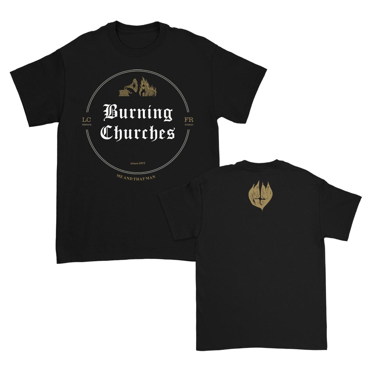 IMAGE | Burning Churches T-Shirt (Black)