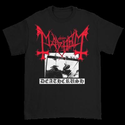 IMAGE | Deathcrush Red Logo Tee (Black)