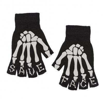 IMAGE | Skeleton Fingerless Gloves (Black)