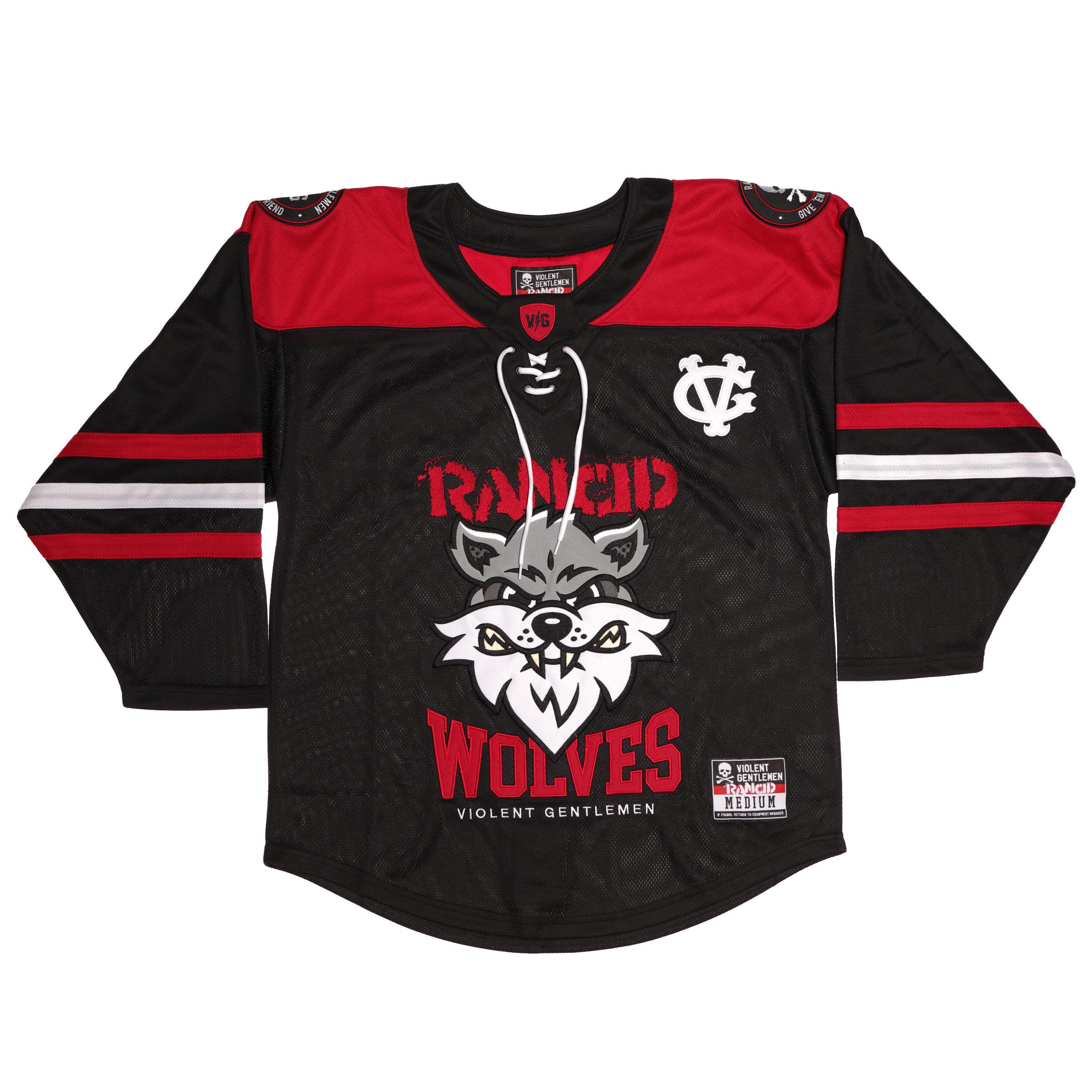 IMAGE | Violent Gentlemen Wolves Hockey Jersey (Black)
