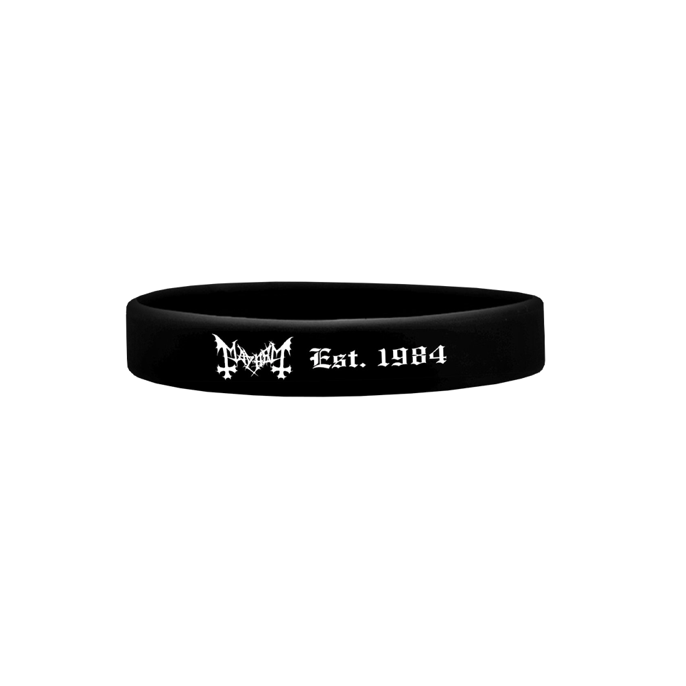 IMAGE | Est. 1984 Logo Silicone Bracelet (Black)
