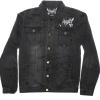 IMAGE   DSP Distressed Denim Jacket (Black) - detail 2