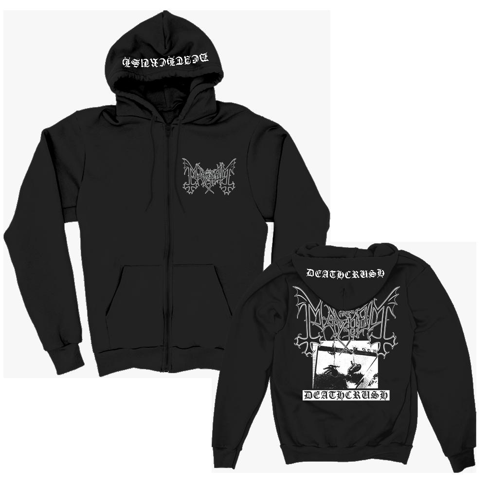 IMAGE   Deathcrush Zip Up Hoodie (Black)