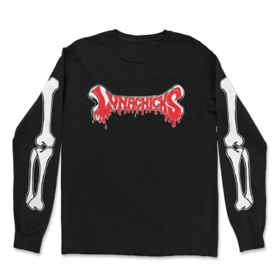IMAGE | Dripping Bones Long Sleeve (Black)